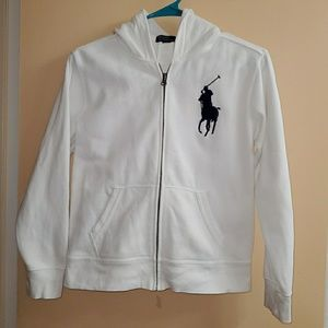 Boys Polo Ralph Lauren Zip Up Hoodie Jacket Med
